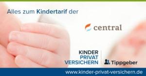 Das Bild zeigt Schrift sowie das Markenzeichen bzw. Logo der Central Privaten Krankenversicherung