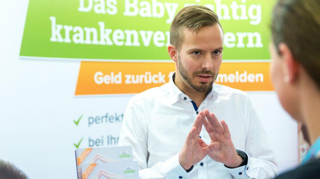 Christoph Huebner auf der BabyWelt in München