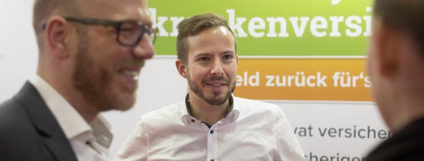 Christoph Huebner im Gespräch mit Kunden